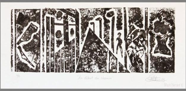 Collografi 3/5 og 4/5 – Au début du chemin – Signert