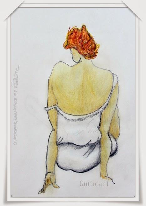 Study of a Egon Schiele drawing #1