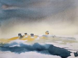 Kystlykke / Coastal Happiness- Watercolour and print R.T.Brokstad