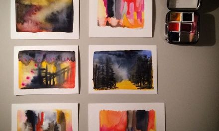 Small paintings, – just for the fun of making them, and for wishing you a happy end of the week