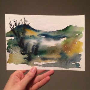 Autumn Lullaby – Watercolour by R. T. Brokstad