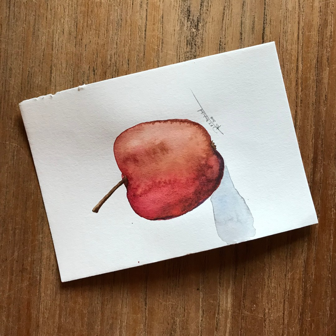 Autumn Apple. (Watercolour on paper, 2018)