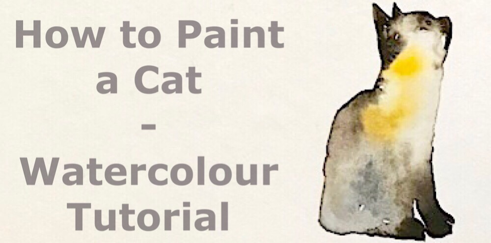 How to paint a cat using watercolours. It's easy, I promise!:) Difficultly: 🔘🔘⚪️⚪️⚪️