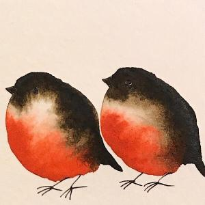 Family of Five-Styles > Birds, Techniques > Original Watercolours, Size > Small (up to 21 cm, eg. A5), Techniques > Cards > Tiny Bird Paintings-Rutheart
