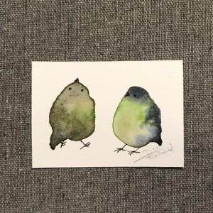 Tiny Bird Painting - byt RT Brokstad