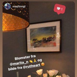 Gøy å se bildet mitt Northern Joy på veggen her! Tusen takk @maylinngl 🤩 • • #rutheart #rutheart_home #rutheart_northernjoy