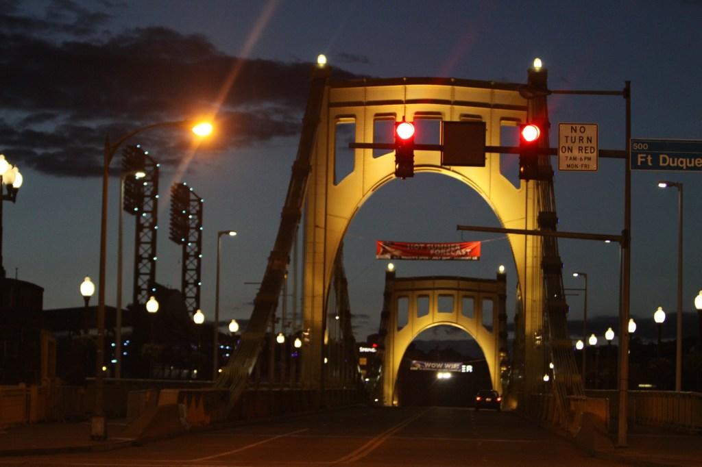 Roberto Clemente Bridge over the Allegheny River