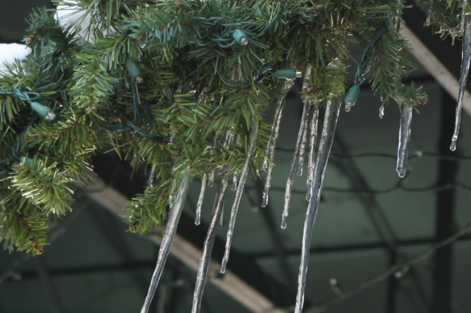 Icicles on Christmas Garland