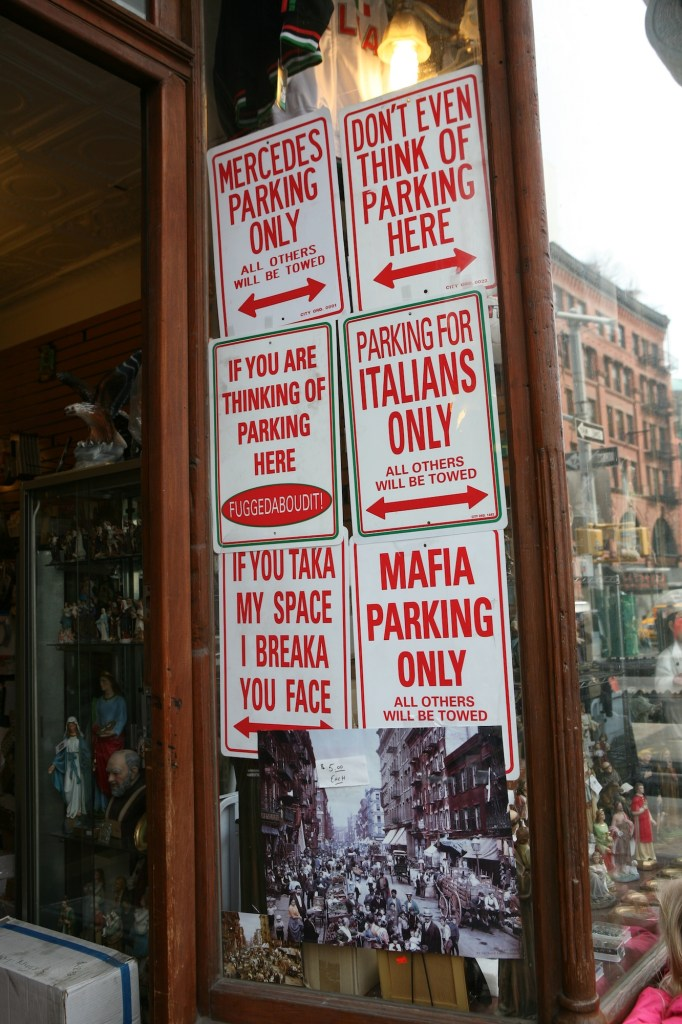 Italian Parking Signs