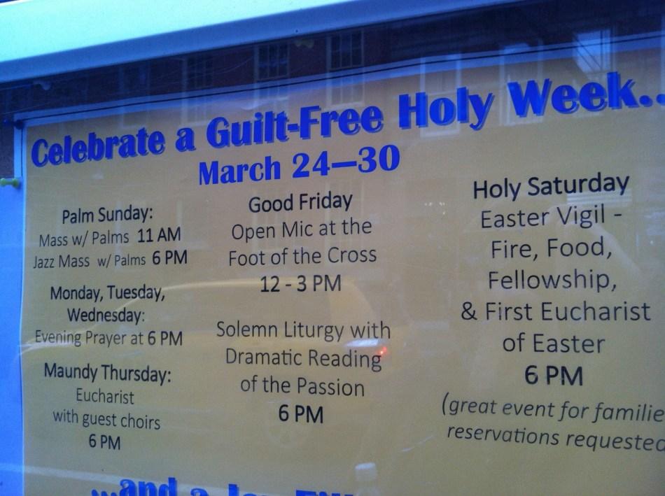 Guilt Free Holy Week