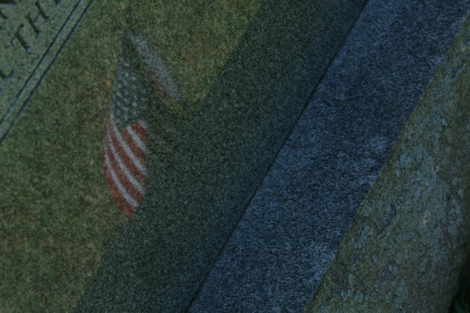 Flag reflection Gravestone