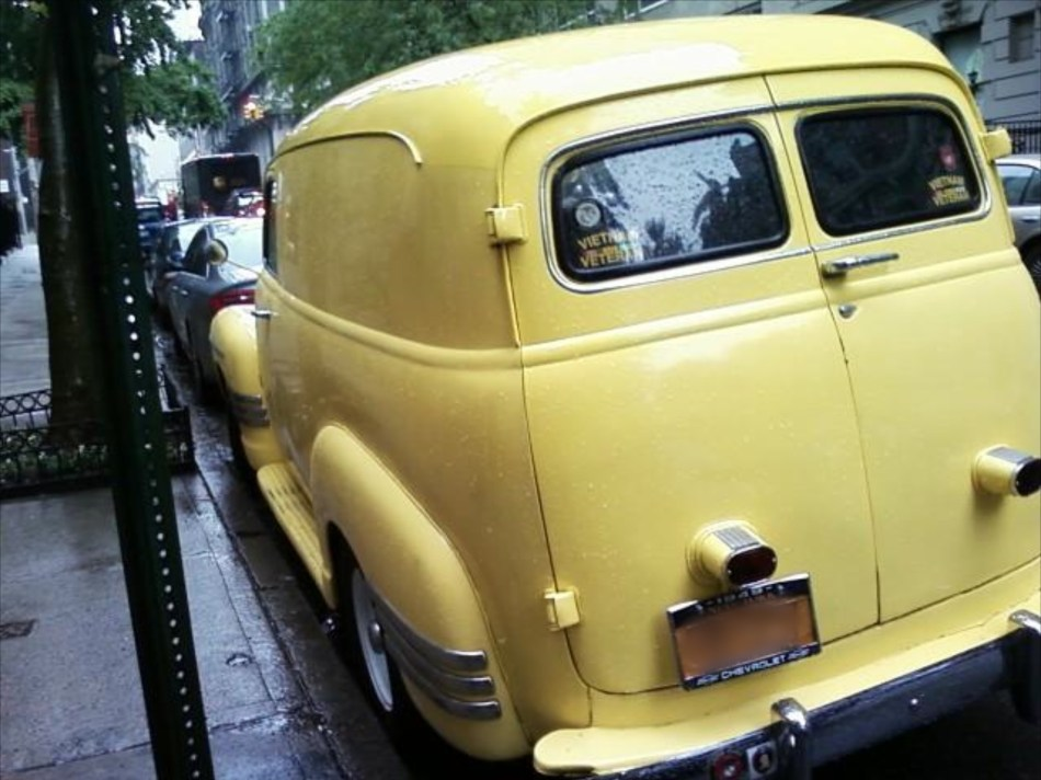 1949 Chevy rear view