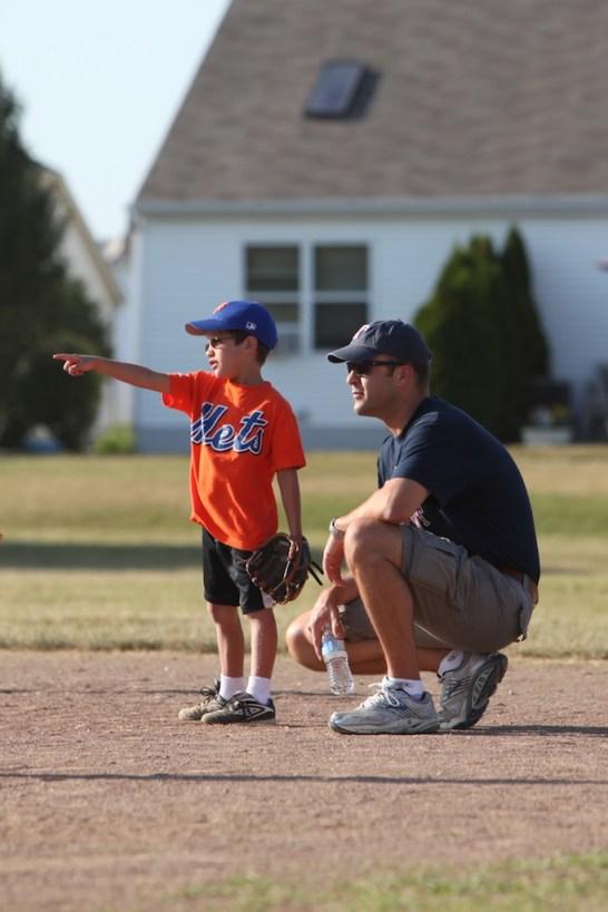 Mark and Michael at Baseball