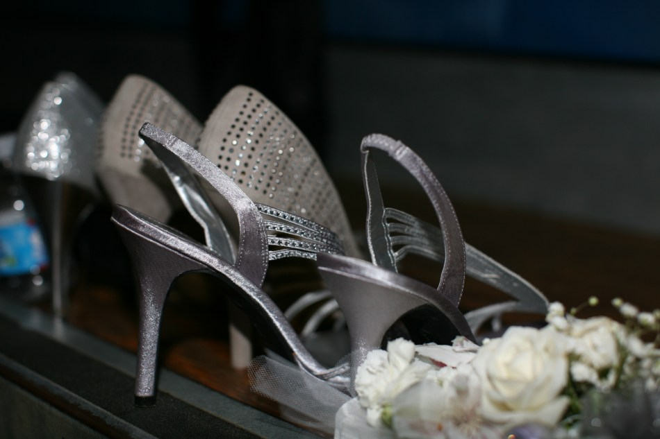 Shoes and corsage