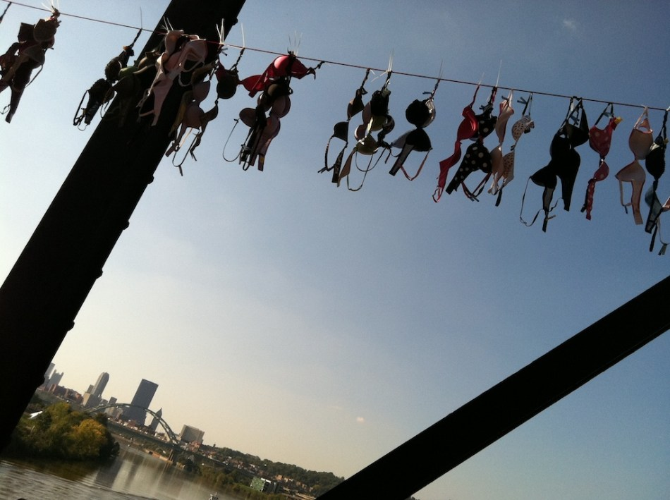 bras on Hot Metal Bridge
