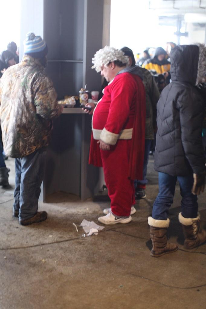 Santa in Stadium