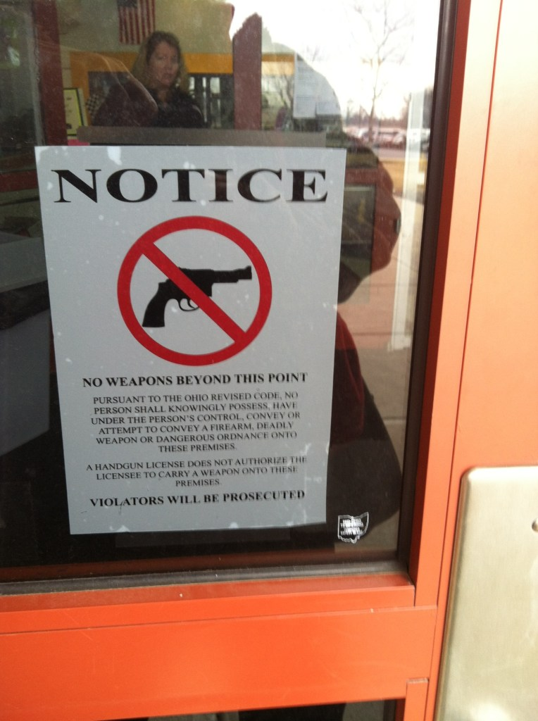 No Weapons Window