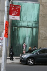 Model on street of NYC