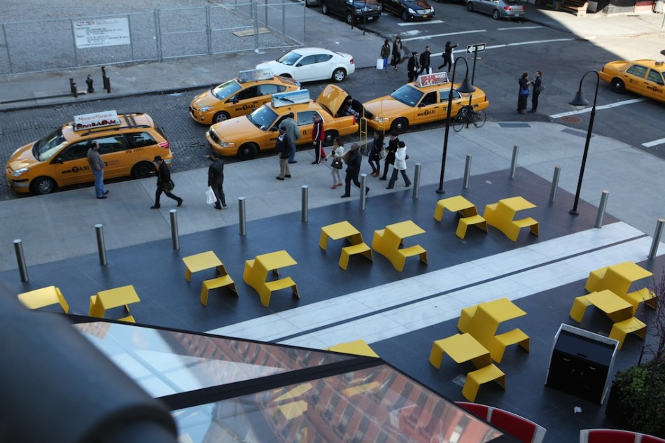 Taxis and Yellow Tables NYC