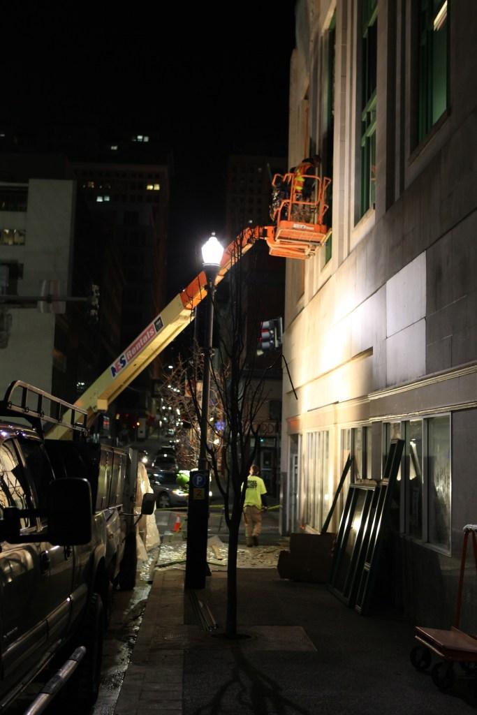 Pittsburgh Workmen at night