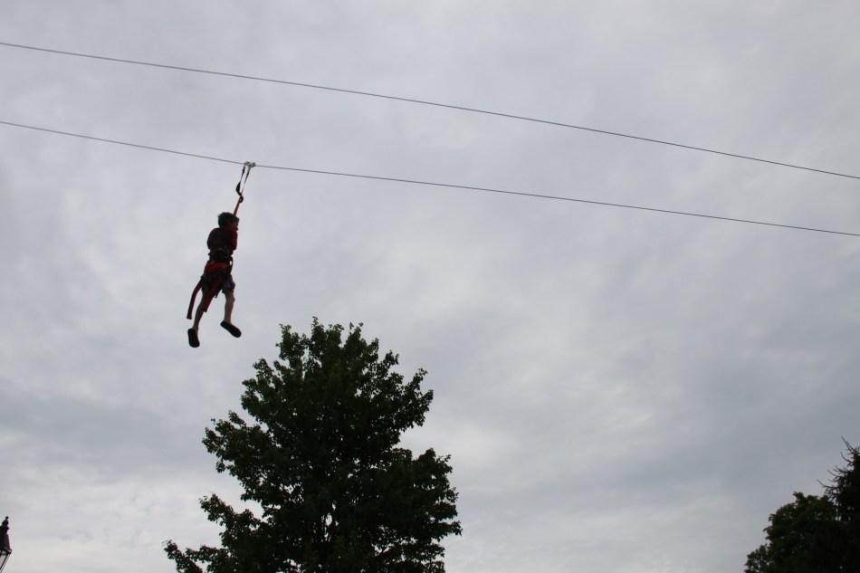 michael on the zip line
