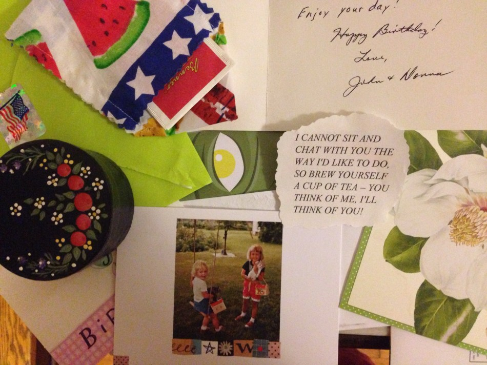 birthday cards in the mail