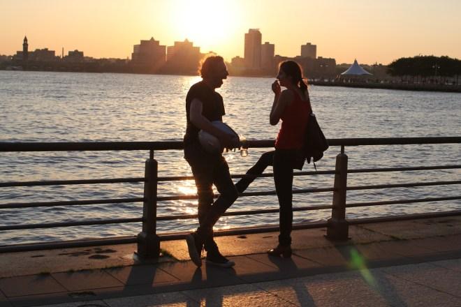 silhouette Hudson River