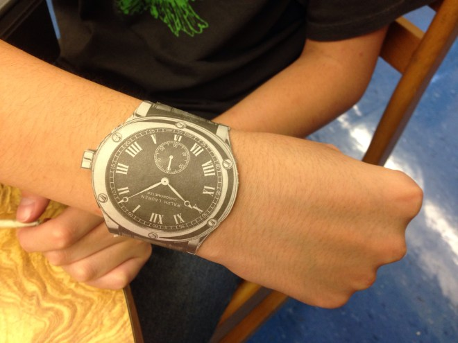 Paper Wristwatch