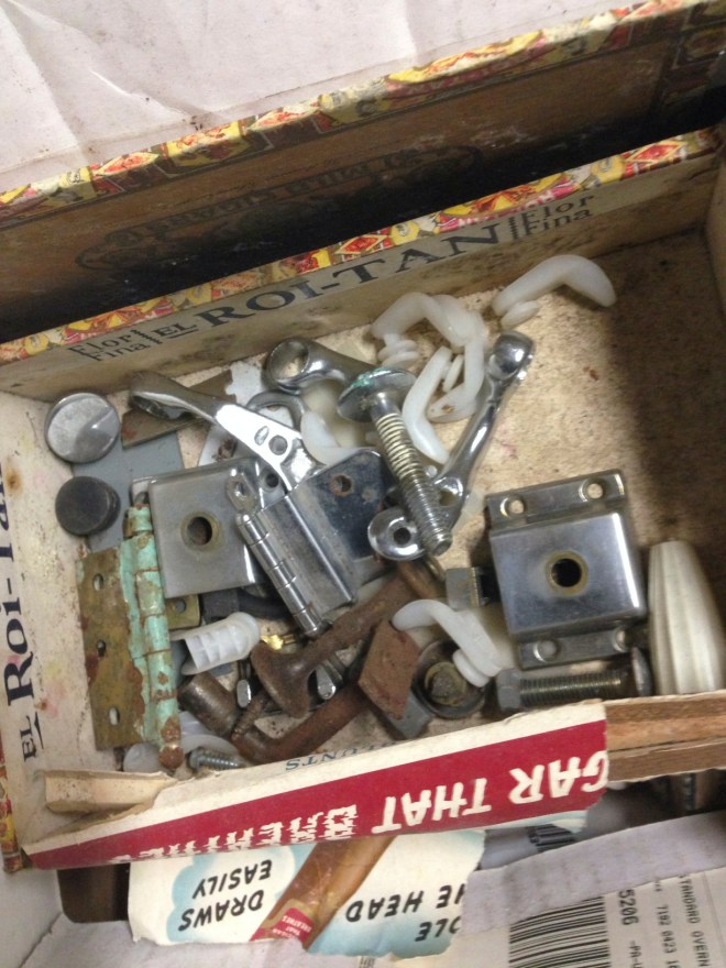cigar box with parts