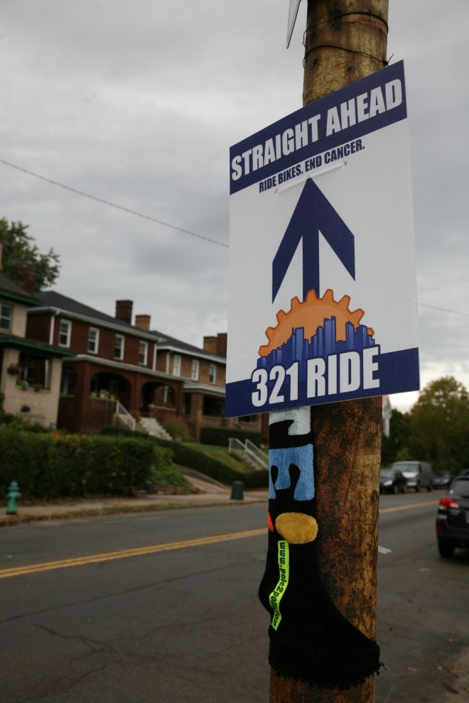 321 Bike Ride Sign