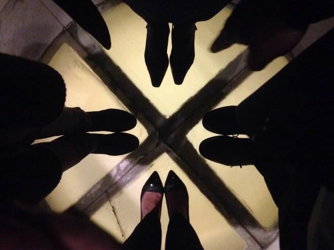 One shiny shoe