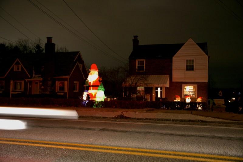 Santa and Headlights