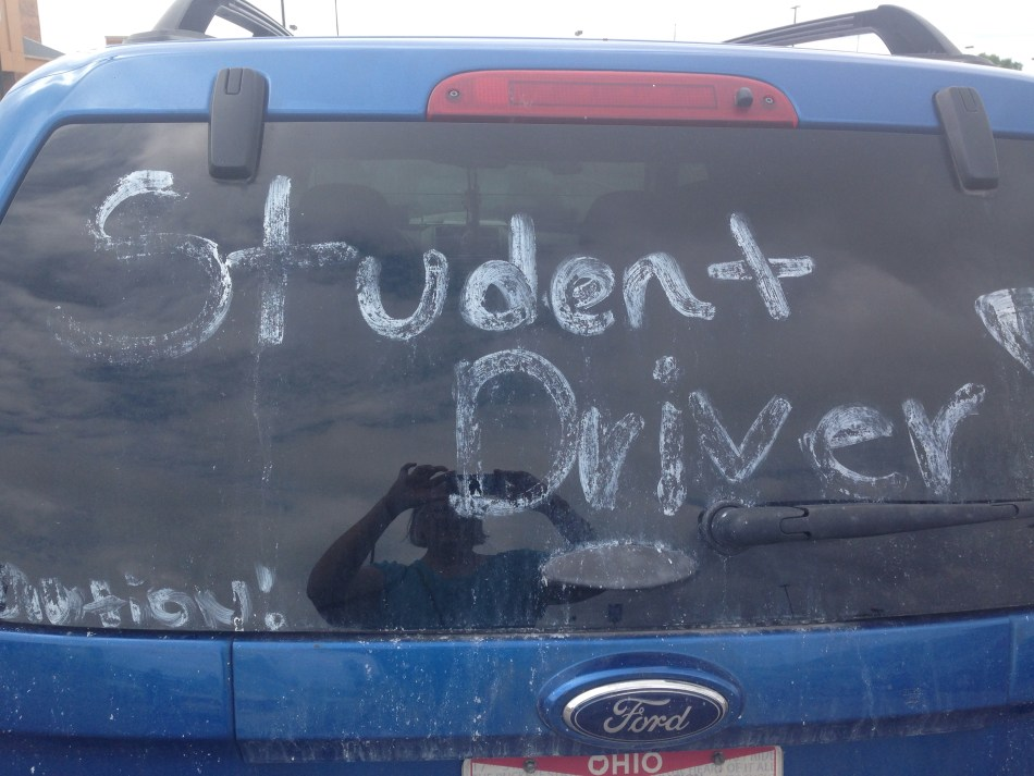 student driver sign