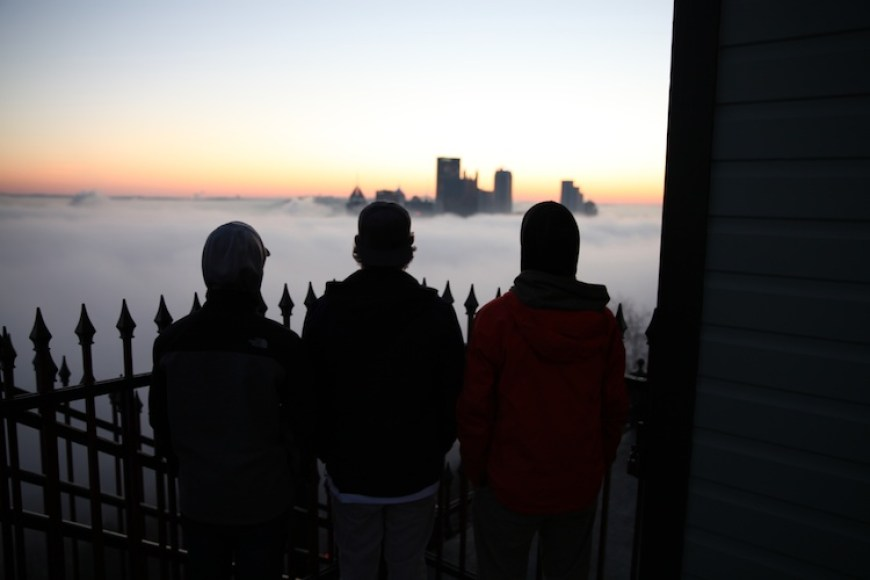 silhouettes at Duquesne Incline