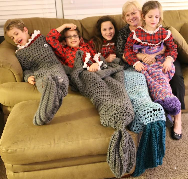 crochet sharks mermaid 2