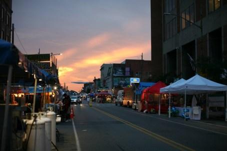 sunset on Liberty Ave 738
