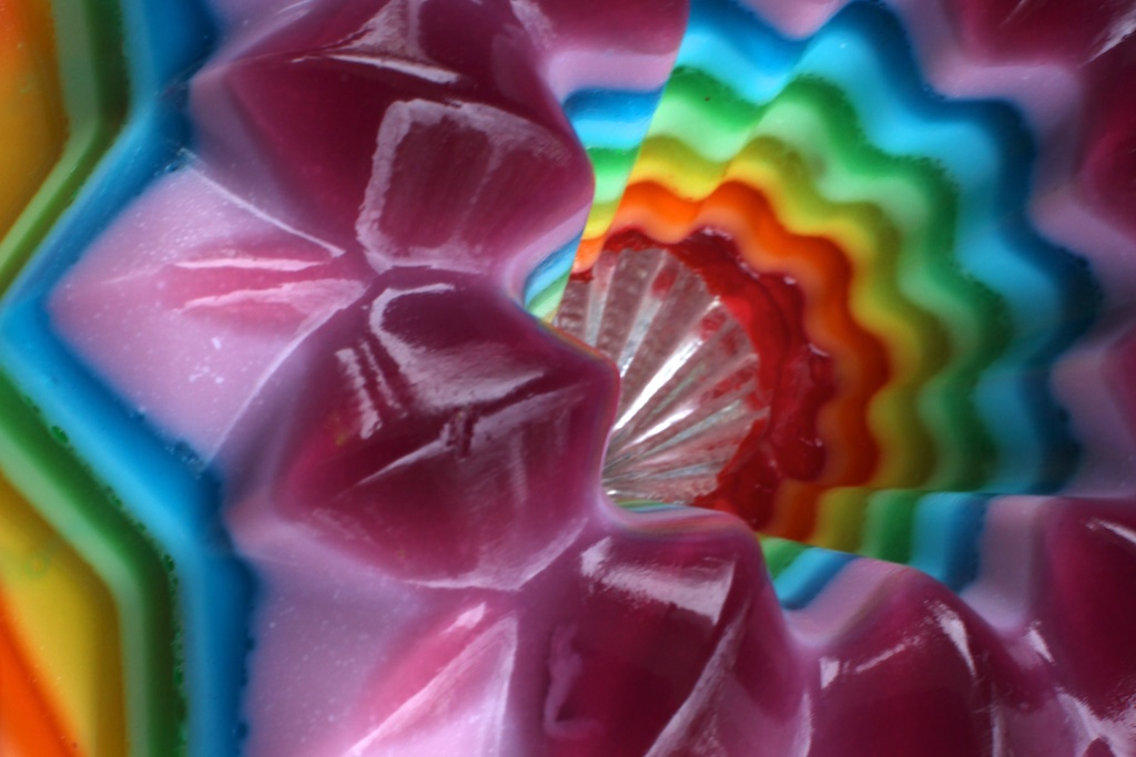 Rainbow Jello Interior