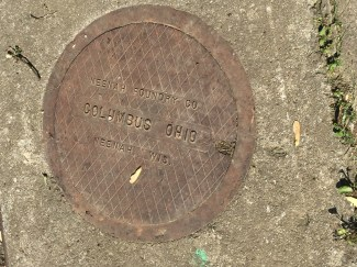 On a manhole cover