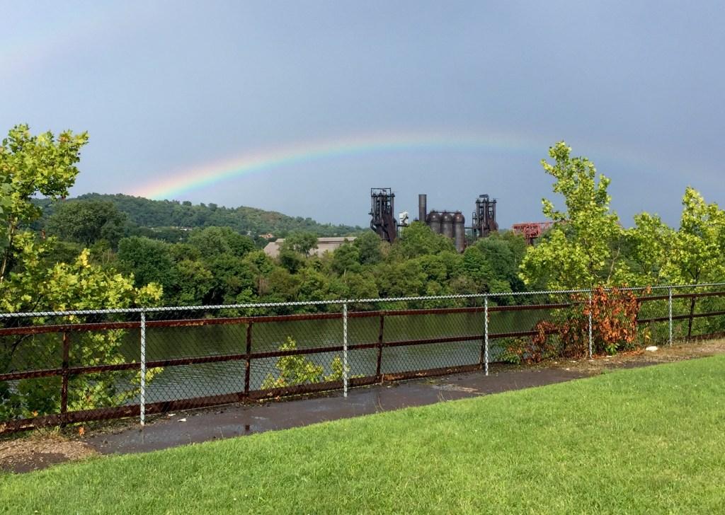 Rainbow over Carrie Furnace