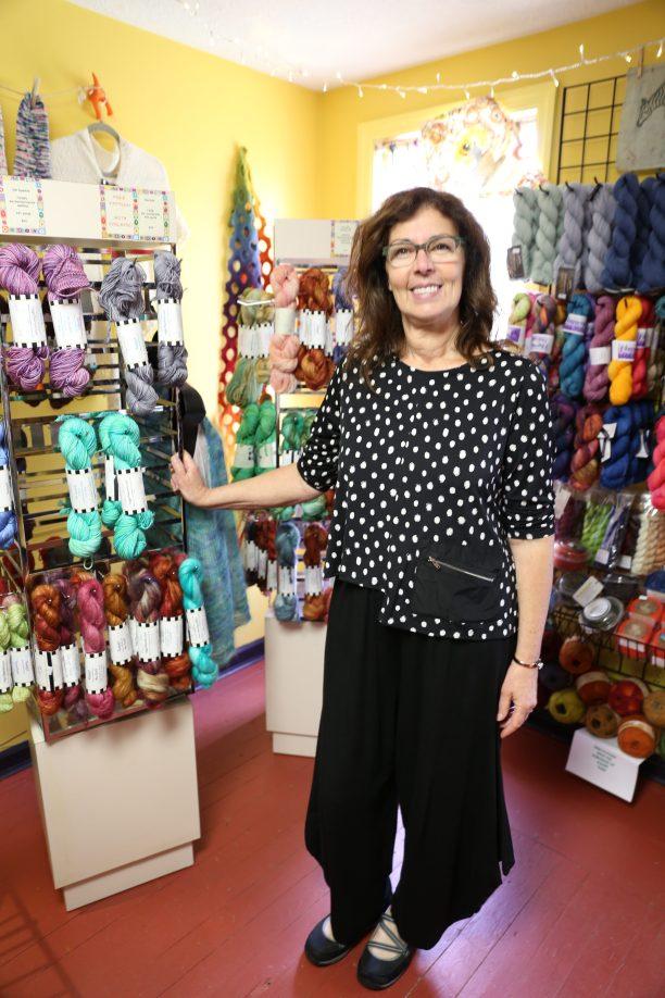 Owner Toni Ritchey with her own RaggZ Yarn