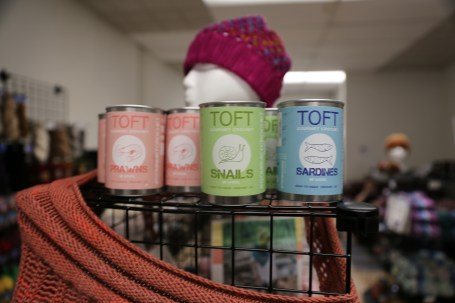 How fun are these cans of gourmet crochet?