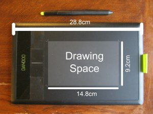 Wacom Bamboo Pen & Touch Graphics Tablet size dimensions