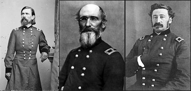 Generals Thomas Leonidas Crittenden, Horatio Phillips Van Cleve and James Scott Negley