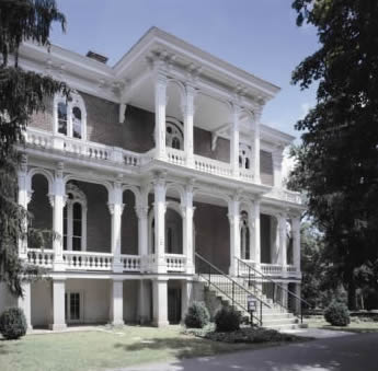 Clover Bottom Mansion was built by John Donelson at the confluence of the Stones and Cumberland Rivers in present-day Nashville.