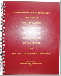 Publication 55: Deed Abstracts of Rutherford Co., 1803-1810 - $5 (Please add shipping of $5.00)