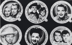 Movie stars were pictured on the underside of ice cream cup lids distributed by Consumers Supply Co, a Murfreesboro ice cream manufacturer.