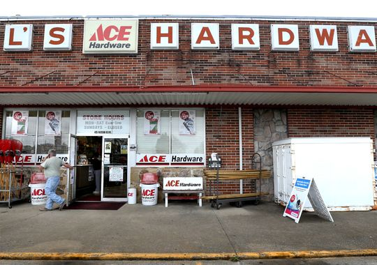 Just over the hill to Gilsville! Gil's Ace Hardware founded