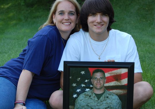 Christian and Heather Golczynski continue to honor the memory of Marine Staff Sgt. Marcus Golczynski, who died from enemy fire in Iraq. (Photo: Submitted)