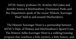 Murfreesboro Historical Scavenger Hunt, May 16, 2016