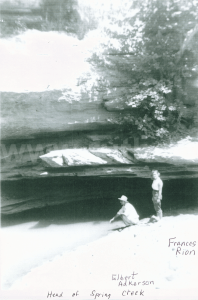 Elbert Adkerson and Frances Rion at the head of Spring Creek